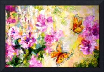 Peonies and Monarch Butterflies