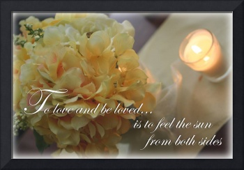 Flowers With a quote about love