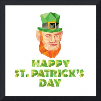 Leprechaun St Patrick's Day Low Polygon
