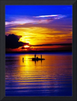 Fishermen Sunset Verticle Print