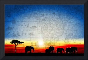 Old World Africa Cool Sunset