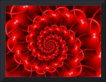Glossy Red Spiral Fractal