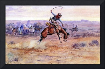 Bucking Bronco (1899) by Charles Russell