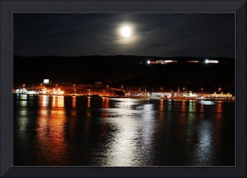 Southside of St. John's Harbour at night