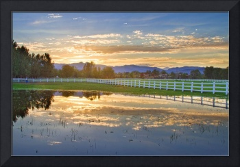 Country Sunset Reflection