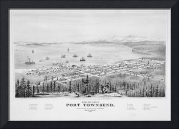 Vintage Pictorial Map of Port Townsend WA (1878)