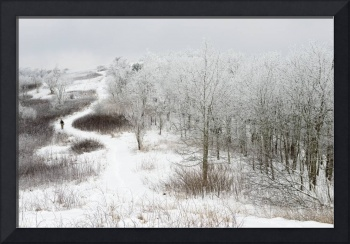 Hiking in snow on the Appalachian Trail