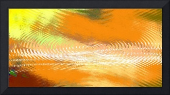 ORIGINAL FINE ART DIGITAL ABSTRACT GALAXIE ORANGE