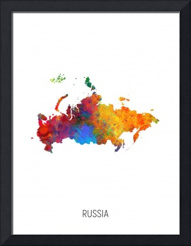 Russia Watercolor Map