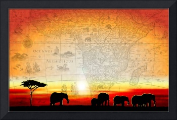 Old World Africa Warm Sunset
