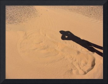 Sand Angel on the Northern edge of Ramlat al Wahay