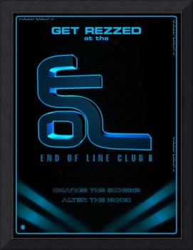 Tron Legacy End of Line Club Poster