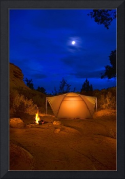 Camp Site At Night, Utah, Usa