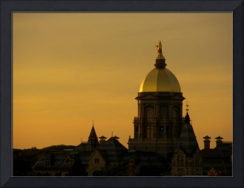 Golden Dome Sunset at Notre Dame