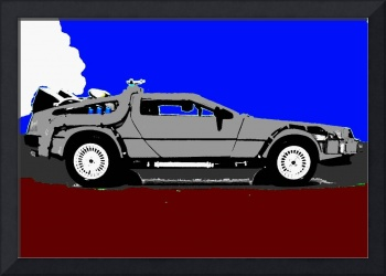 Back to the Future Delorean Shadow Color