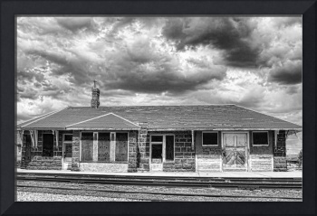 The Old Train Stop  BW