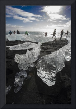 Icebergs and Tourists, Southern Iceland