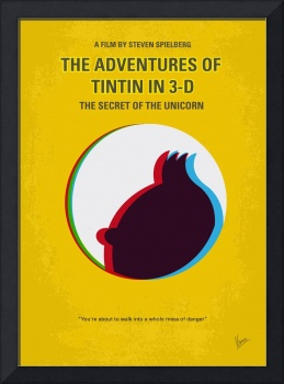 No096 My TINTIN-3D minimal movie poster
