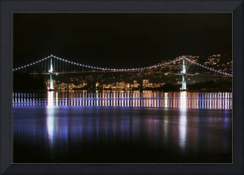 West Vancouver & Lions Gate at night photograph