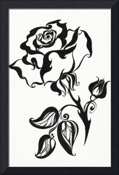 Ink Drawing Chinese Rose