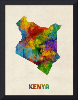 Kenya Watercolor Map