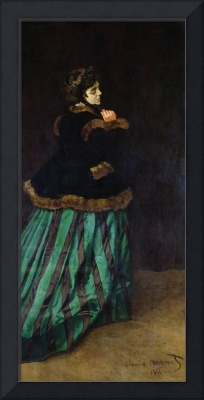 Camille,The Woman in the Green Dress, 1866 (oil on