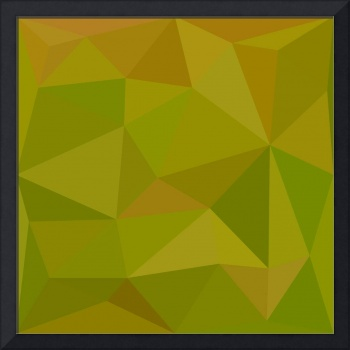 Heart Gold Green Abstract Low Polygon Background