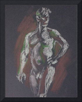 Figure in Gray and Green