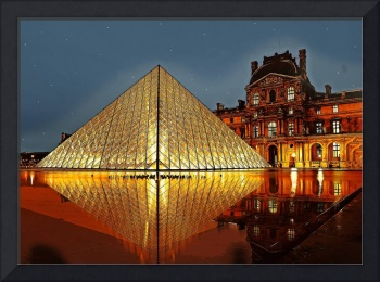 Night at the Louvre Museum Paris France