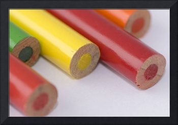 Close up Colourful Pencils