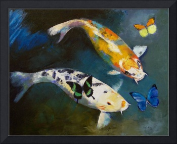 Koi Fish and Butterflies