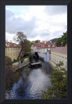 A watermill on the Moldova, Prague.