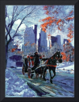 First Snow in Central Park - New York City