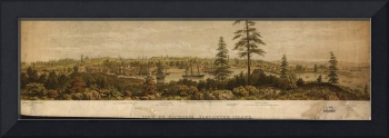 Vintage Pictorial Map of Victoria Vancouver (1860)