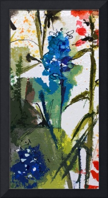 Abstract Texas Blue Bonnets