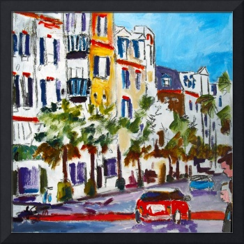 King Street Shopping Charleston SC oil Painting