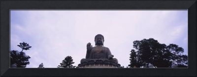 Low angle view of a statue of Buddha