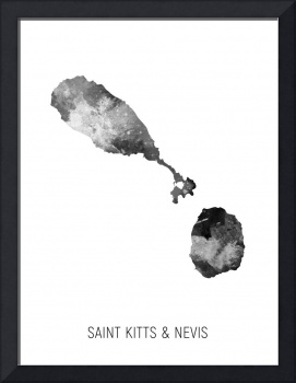 Saint Kitts & Nevis Watercolor Map
