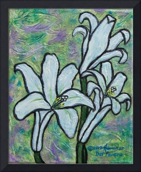 Easter Lilies Painting