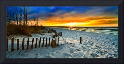 panoramic landscape art print red sunset sunrise