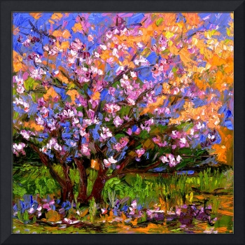 Pink BlossomTree Oil Painting