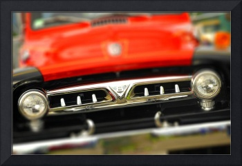 Old Ford V-8 grill