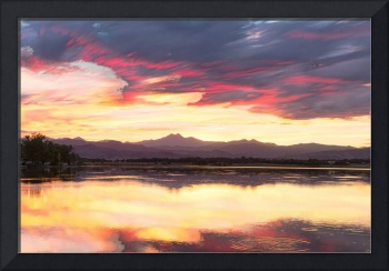 Colorful Colorado Rocky Mountain Sky Reflections