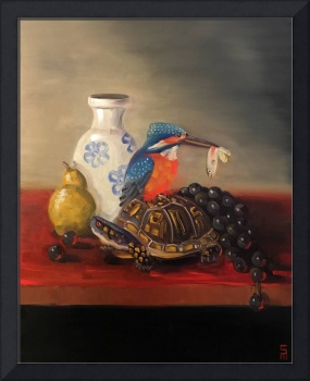 Kingfisher Box Turtle Still Life