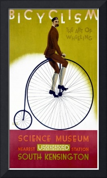 Bicyclism Science Museum Vintage Poster