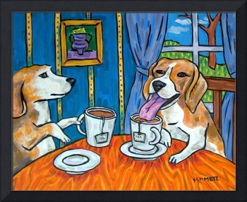 Beagles in the Tea Room