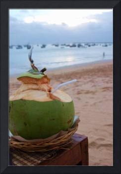 Coconut drinks at Jimbaran