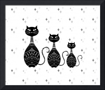 Black Cats Illustration