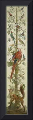 Decorative Depiction with Plants and Animals, anon