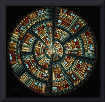 Native American Basket ~ Abstract